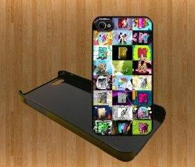 MTV LOGO Custom Case/Cover FOR Apple iPhone 4 5 samsung S3 /S4 BLACK/WHITE WITH FREE SCREEN PROTECTOR