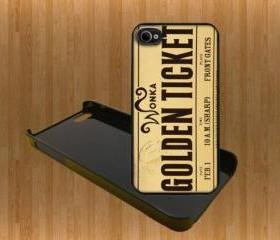 Willy wonka golden ticket Custom Case/Cover FOR Apple IPhone 4 5 Samsung S3 /S4 BLACK/WHITE WITH FREE SCREEN PROTECTOR