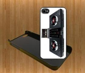 Turntables DJ Custom Case/Cover FOR Apple IPhone 4 5 Samsung S3 /S4 BLACK/WHITE WITH FREE SCREEN PROTECTOR