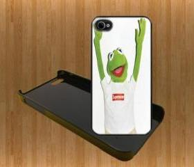 Supreme Cool frog Custom Case/Cover FOR Apple IPhone 4 5 Samsung S3 /S4 BLACK/WHITE WITH FREE SCREEN PROTECTOR