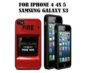 Fire Alarm Custom Case/Cover FOR Apple IPhone 4 5 Samsung S3 /S4 BLACK/WHITE WITH FREE SCREEN PROTECTOR