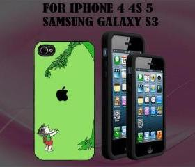 Giving Tree Custom Case/Cover FOR Apple IPhone 4 5 Samsung S3 /S4 BLACK/WHITE WITH FREE SCREEN PROTECTOR