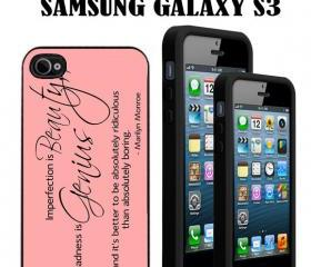 Marilyn Monroe quotes Custom Case/Cover FOR Apple IPhone 4 5 Samsung S3 /S4 BLACK/WHITE WITH FREE SCREEN PROTECTOR