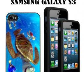 Finding Nemo Turtle Custom Case/Cover FOR Apple IPhone 4 5 Samsung S3 /S4 BLACK/WHITE WITH FREE SCREEN PROTECTOR
